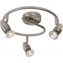 LED-spottivalaisin Lucide Caro-LED, 3x5W, satiinikromi
