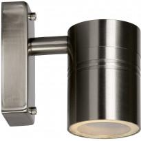 Ulkoseinävalaisin Lucide Arne-LED, Ø6.3 cm, 1x5W, IP44, satiinikromi