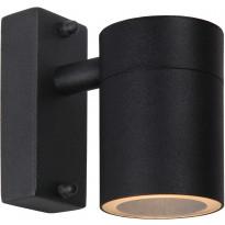 Ulkoseinävalaisin Lucide Arne-LED, Ø6.3 cm, 1x5W, IP44, musta