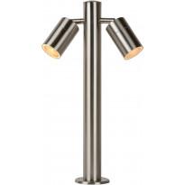 Pollarivalaisin Lucide Arne-LED, 50 cm, 2x5W, IP44, satiinikromi