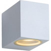 Ulkoseinävalaisin Lucide Zora LED kulmikas, GU10, 1x5W, IP44, valkoinen