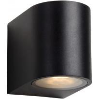 Ulkoseinävalaisin Lucide Zora LED pyöreä, GU10, 1x5W, IP44, musta