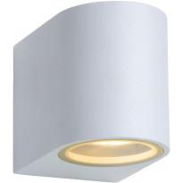 Ulkoseinävalaisin Lucide Zora LED pyöreä, GU10, 1x5W, IP44, valkoinen