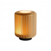 LED-pöytävalaisin Lucide Turbin, 10.6x10.6x13.7cm, 5W, messinki