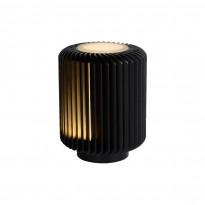 LED-pöytävalaisin Lucide Turbin, 10.6x10.6x13.7cm, 5W, musta