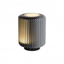 LED-pöytävalaisin Lucide Turbin, 10.6x10.6x13.7cm, 5W, harmaa