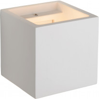 Seinävalaisin Lucide Gipsy neliö, 11.5 cm, G9, valkoinen