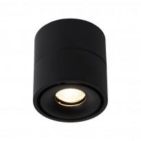 LED-kattospotti Lucide Yumiko, 78x78mm, 8W, himmennettävä, musta