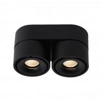 LED-kattospotti Lucide Yumiko, 78x161mm, 2x8W, himmennettävä, musta