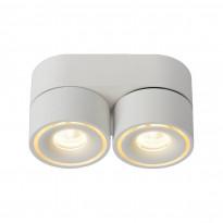 LED-kattospotti Lucide Yumiko, 78x161mm, 2x8W, himmennettävä, valkoinen