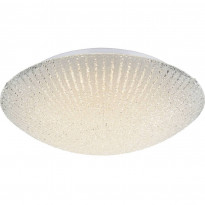 LED-plafondi Globo Vanilla, Ø40cm, 18W, valkoinen