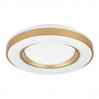 LED-plafondi Globo Colla, Ø50cm, 48W, himmennettävä, kulta