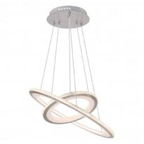 LED-riippuvalaisin Globo Logrono, Ø50cm, 40W, mattanikkeli, Verkkokaupan poistotuote