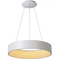 LED-riippuvalaisin Lucide Talowe, 42W, 230V, IP20, Ø 600mm, valkoinen