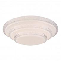 LED-plafondi Globo Magnifique, Ø49.5cm, 30W, himmennettävä, valkoinen
