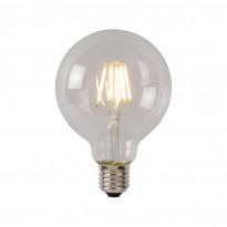 LED-lamppu Lucide filamentti E27, Ø9.5cm, himmennettävä, 5W, 550lm, kirkas