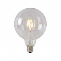 LED-lamppu Lucide filamentti E27, Ø12.5cm, himmennettävä, 5W, 2700K, kirkas