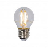 LED-lamppu Lucide filamentti E27, Ø4.5cm, himmennettävä, 4W, 2700K, kirkas