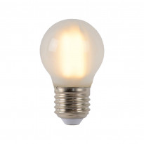 LED-lamppu Lucide filamentti E27, Ø4.5cm, himmennettävä, 4W, 2700K, maitolasi