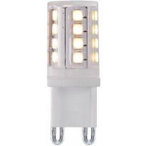 LED-lamppu G9 Lucide 4W, 230V, 2700K, 380lm, IP20, Ø 16mm, valkoinen