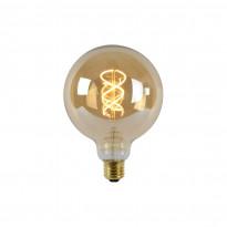 LED-lamppu Lucide filamentti E27, Ø12.5cm, himmennettävä, 5W, 2200K, amber