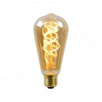LED-lamppu Lucide filamentti E27, Ø6.4cm, himmennettävä, 5W, 2200K, amber