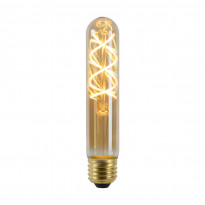 LED-lamppu Lucide filamentti E27, Ø3cm, himmennettävä, 5W, 2200K, amber