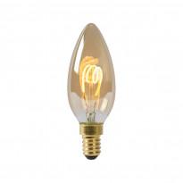 LED-lamppu Lucide filamentti E14, himmennettävä, amber