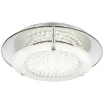 LED-kattovalaisin Globo Froo, 12W, 230V, IP20, Ø 280mm, kromi