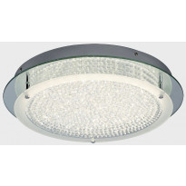 LED-kattovalaisin Globo Froo, 18W, 230V, IP20, Ø 360mm, kromi