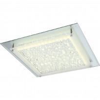 LED-plafondi Globo Liana, 42x42cm, 18W, teräs