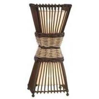 Pöytävalaisin Nino Bamboo, 2x40W, 230V, IP20, ruskea