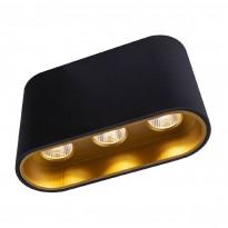 LED-kattospotti Globo Tugha, 10.5x3.8cm, 7W, musta