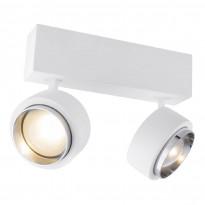 LED-kattospotti Globo Christine, 24x9.7cm, 10W, valkoinen