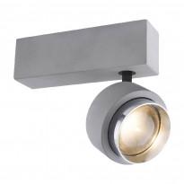 LED-kattospotti Globo Timo, 19x9.7cm, 10W, harmaa