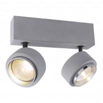LED-kattospotti Globo Timo, 24x9.7cm, 10W, harmaa