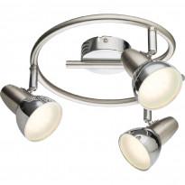 LED-kattovalaisin Globo Cappuccino, Ø250mm, 3x4W, satiini