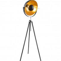 Lattiavalaisin Globo Lenn, Ø69x179cm, 60W, musta