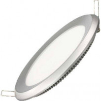 Upotettava valaisin FocusLight Slim LED, 15W, 230V, 3000K, 900lm, IP44, Ø 180mm, hopea