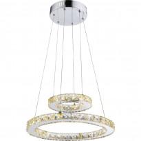 LED-riippuvalaisin Globo Marilyn, Ø40cm, 24W, kromi