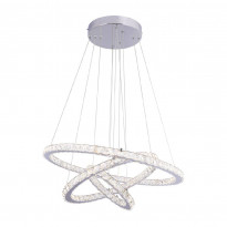 LED-riippuvalaisin Globo Marylin, Ø70cm, 76W, kromi