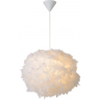 Riippuvalaisin Lucide Goosy Soft, Ø50 cm, valkoinen