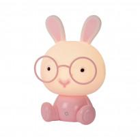 LED-pöytävalaisin Lucide Dodo Kani, 19x16x30cm, 3W, himmennettävä, vaaleanpunainen