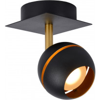 LED-spottivalaisin Lucide Binari, 1x4.5W, musta