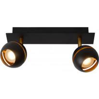 LED-spottivalaisin Lucide Binari, 2x5W, musta