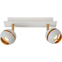LED-spottivalaisin Lucide Binari, 2x5W, valkoinen