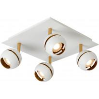 LED-spottivalaisin Lucide Binari, 4x5W, valkoinen, Verkkokaupan poistotuote