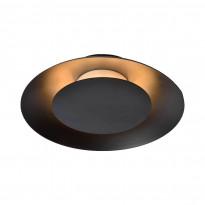 LED-plafondi Lucide Foskal, Ø21.5cm, 6W, musta