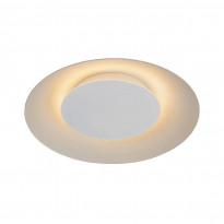 LED-plafondi Lucide Foskal, Ø34.5cm, 12W, valkoinen