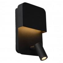 LED-seinävalaisin Lucide Boxer, 2x5W, musta